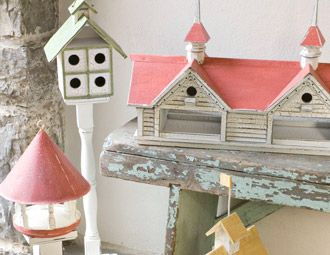 Colorful spring birdhouses