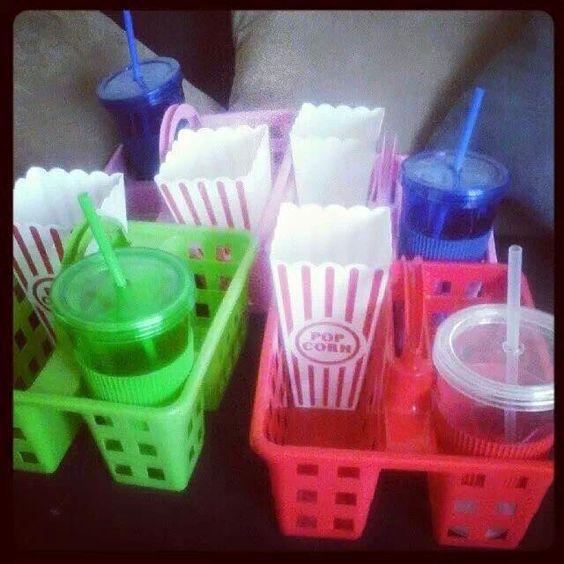 movie nite gift basket