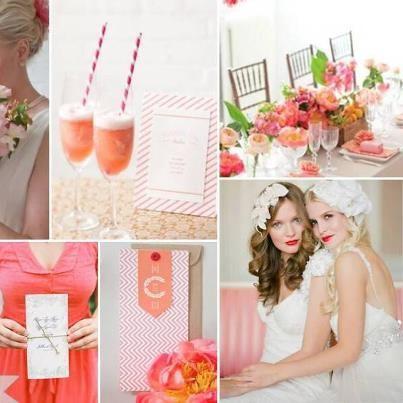 Peach wedding inspiration! Image: theperfectpalette.com