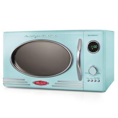 Nostalgia Electrics Microwave Oven In Aqua Countertop Microwave