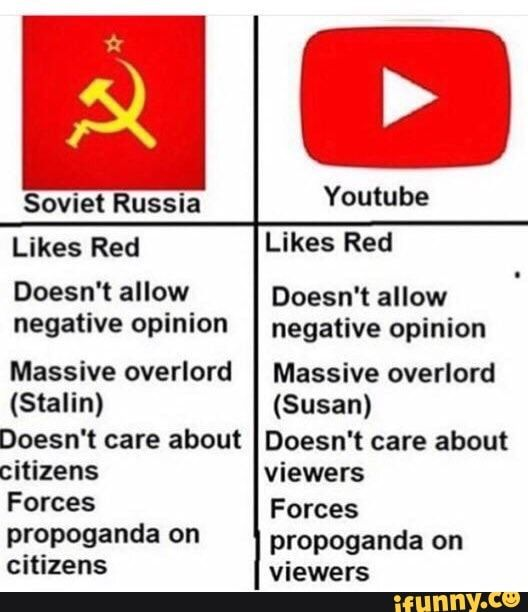 youtube idézetek képekkel sl Soviet Russia Youtube Likes Red Likes Red Doesn't allow Doesn't