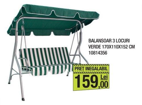 1 Balansoar Metalic Verde 3 Locuri Magazin Leroy Merlin