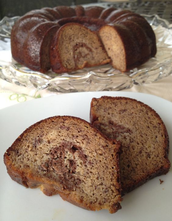 Paleo Banana Bundt Cake - cake: bananas, eggs, honey, ground cinnamon ...