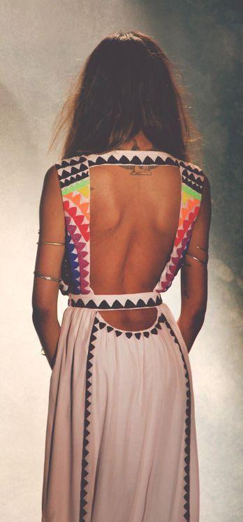 Backless Maxi Dress: