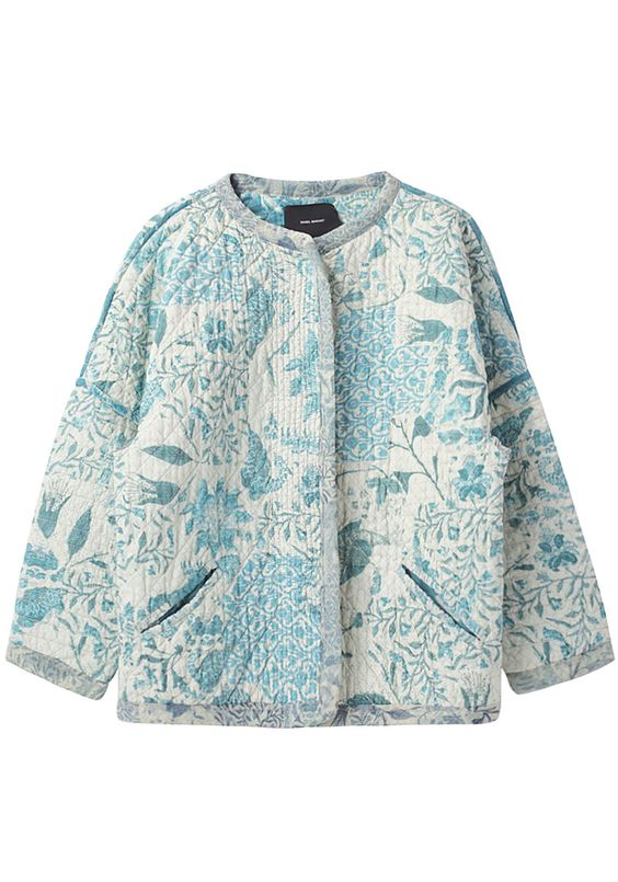 Isabel Marant Ciara Jacket - 795 USD  I made a quilted fabric and then a jacket out of it many years ago...