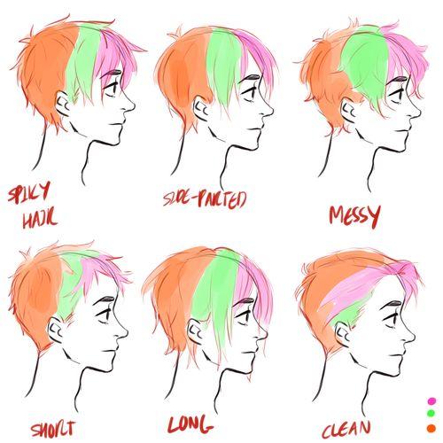 hair tutorial please 3 hair reference drawing hair