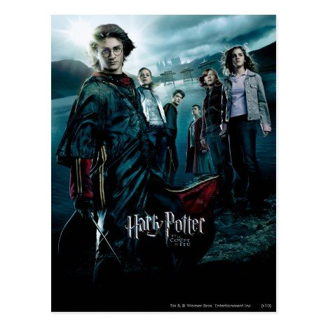 Goblet Of Fire French 4 Postcard Zazzle Com Goblet Of Fire Harry Potter Poster Fire Movie