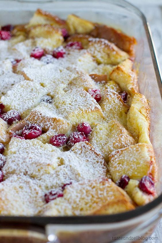 Cranberry Orange Baked French Toast - an overnight breakfast casserole that is perfect for holiday entertaining.