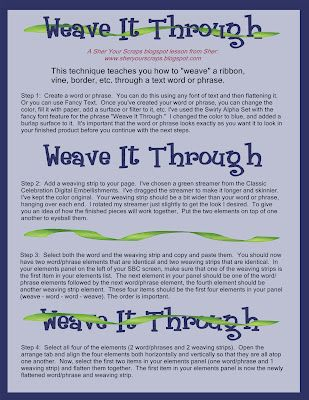 Sher Your Scraps: Weave It Through - new digital lesson