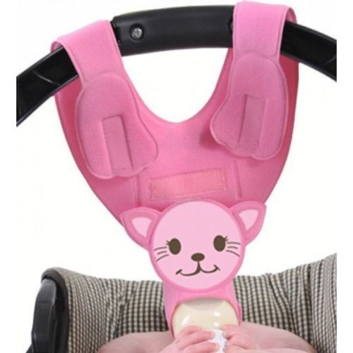 Pink Kitty Baby Bottle Holder by Bebe Bottle Sling Hands Free Baby Bottle Feeding Tool