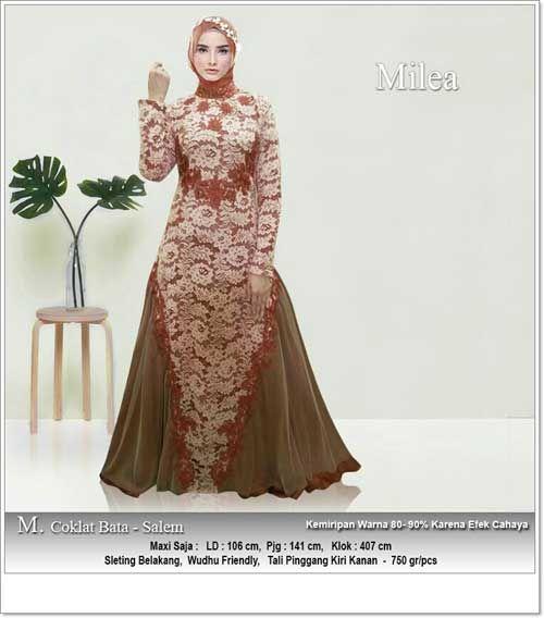 Gaun Pesta Muslimah Bahan Brukat Aplikasi Bordir Gaun Pesta Gaun Model Pakaian