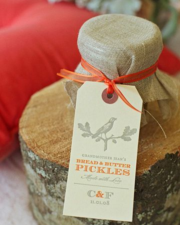 favours for gourmet vintage party/ wedding