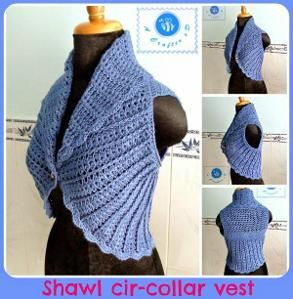 Shawl Cir-collar Vest - All sizes