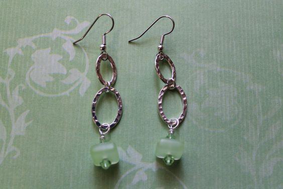 Links and swarovski crystal dangle earrings.  Follow Bailey Beadz on Facebook and visit my Etsy store. https://www.etsy.com/shop/BaileyBeadz