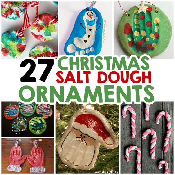 27 Christmas Salt Dough Ornaments For Kids