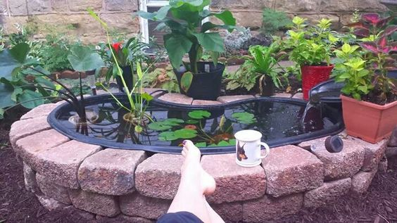 Very Small Backyard Pond : Small backyard ponds, Backyard ponds and Small backyards on Pinterest