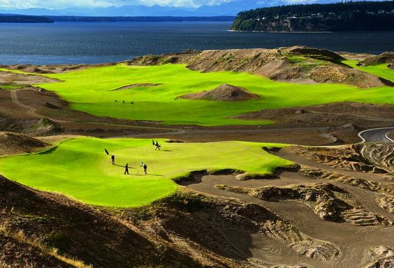 Olympus Golf Hole 9, Par 3 • Chambers Bay