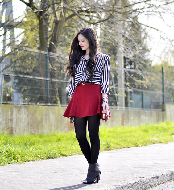* Petit and Sweet Couture: ...Red skirt & Stripes...