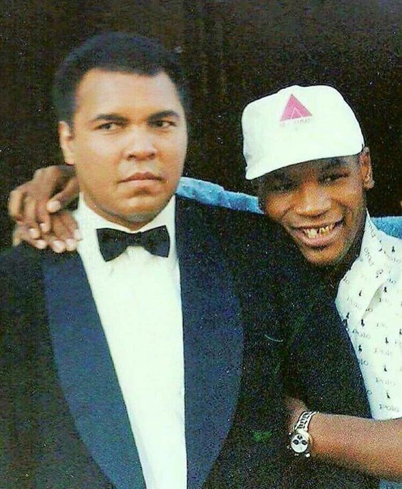 Mike Tyson and Muhammad Ali