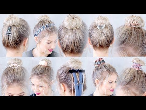 10 Cute Hair Accessories For Top Knots Buns Milabu Youtube Hair Styles Hair Accessories Top Knot Bun