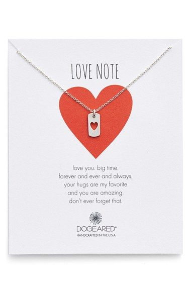 Free shipping and returns on Dogeared Heart Dog Tag Pendant Necklace (Nordstrom Exclusive) at Nordstrom.com. A dainty dog tag featuring a sweet heart cutout serves as a delicate symbol of your love in a pendant necklace that makes a perfect gift.