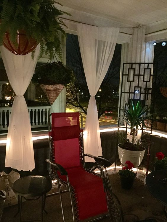 Balcony after - at night!