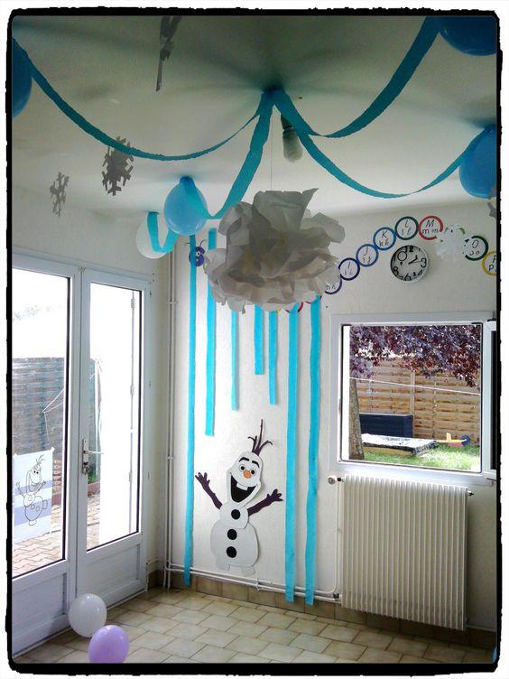 anniversaire la reine des neiges avec la famille id e deco chambre filles pinterest. Black Bedroom Furniture Sets. Home Design Ideas
