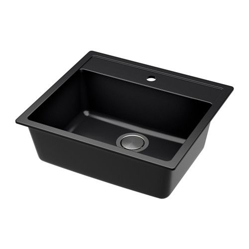 IKEA - HÄLLVIKEN, Inset sink, 1 bowl, 25-year Limited Warranty. Read about the terms in the Limited Warranty brochure.Has a pre-drilled…