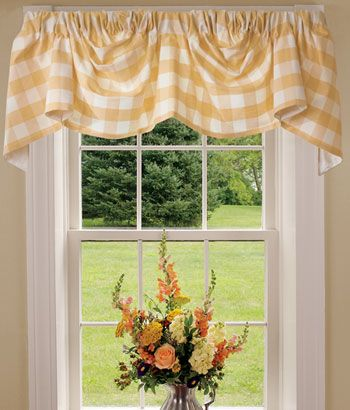 Curtains Ideas austrian valances curtains : Buffalo Check Lined Austrian Valance | MASTER'S Bedroom Beauty ...