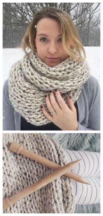 Free Knitting Patterns For Super Chunky Wool : DIY Knit Cheap Super Chunky Scarf free Pattern from Margo Knits.Don t want to...