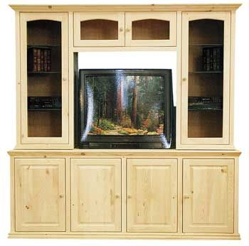 Pine Entertainment Center Base - Unfinished furniture of New Jersey, New  York and Pennsylvania offering unfinished tv and vcr cabinets, television …