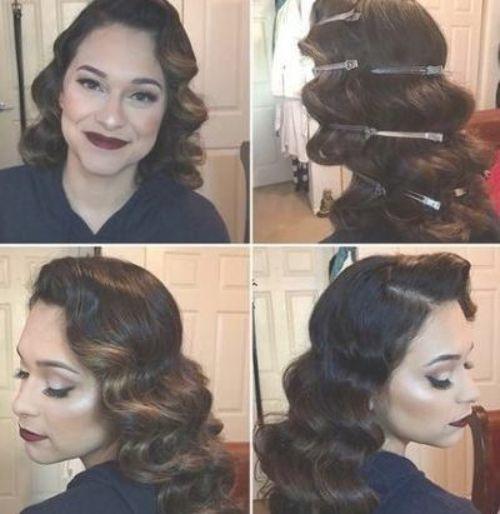 Hair Long Wedding Vintage Finger Waves 46 Ideas Hair Wedding Vintagewedding Finger Wave Hair Vintage Curls Hair Waves