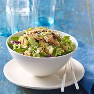sesame-ginger dressing recipe is perfect with this salad of grilled ...