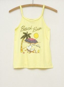 Kids Girls Beach Bum Tank