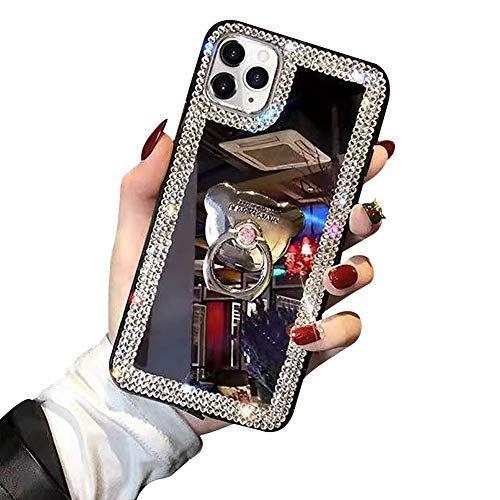 Cheval Shinyzone Coque pour iPhone 11 Pro Max 6.5 Pouce Glitter Housse de 3D Brillant Feuille dor,Coque en Silicone Transparente Doux avec Motif de Dessin Anim/é /Étui Arri/ère Cristal
