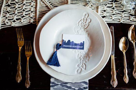 tassel plate setting by Brylo Studio   Green Wedding Shoes   Photo: Erin Trimble