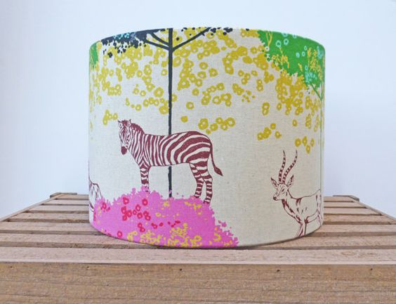 Animal Ceiling Shade 30cm Drum Light Shade by WhileLokiDreams, £32.00