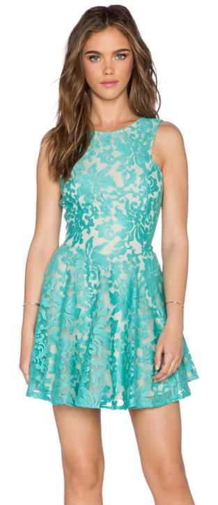 Chic mint lace mini dress - on sale for $48!