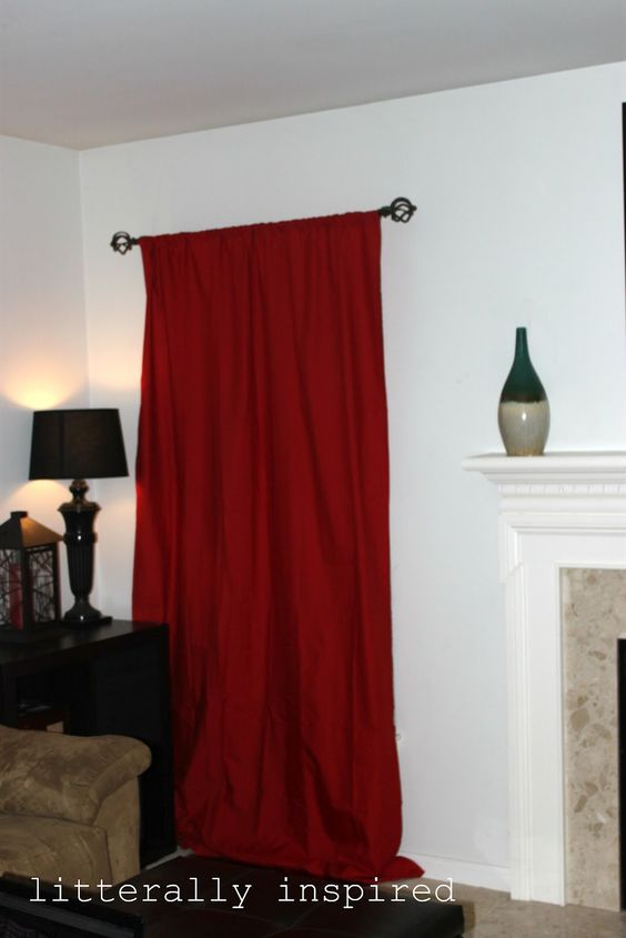 Easy Curtains made from King Size Sheets #DIY lol wish I would have seen this a couple of yrs ago! Would have saved some money!