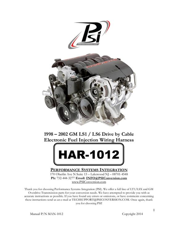 Thunder Heart Performance Ea4260 Engine Wiring Harness Manual Guide