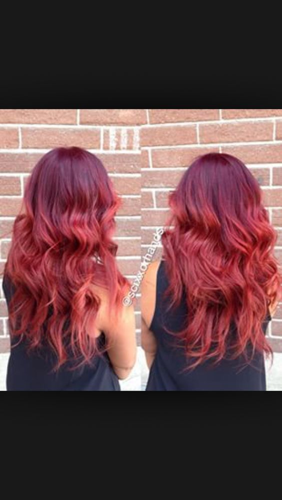 Red ombre | Hair | Pinterest | Red ombre, Ombre and Red