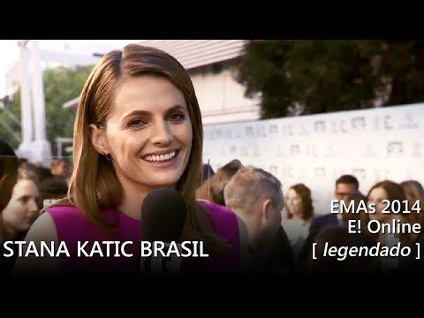 Stana Katic @ EMAs 2014 green carpet - entrevista (legendada) - YouTube