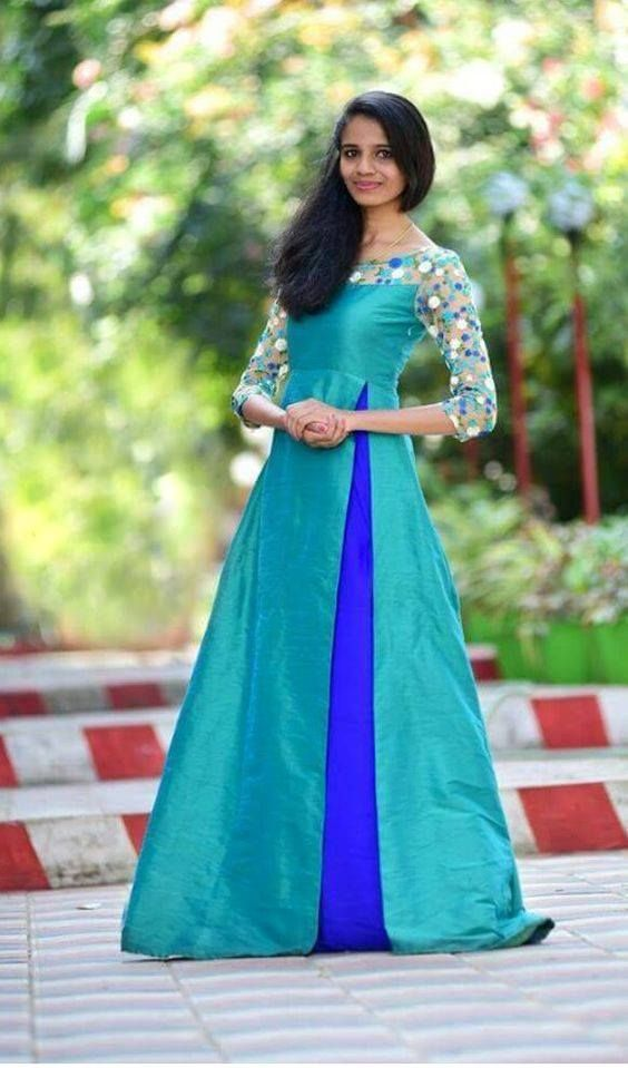 Do You Have A Saree That Is Lying In Your Cupboard For So Long Do You Want To Wear It But Don T Have An Long Dress Design Indian Gowns Dresses Frock