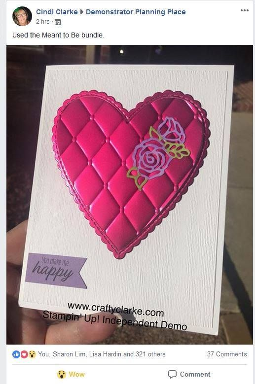 Love The Embossed Heart With Images Stampin Up Valentine Cards