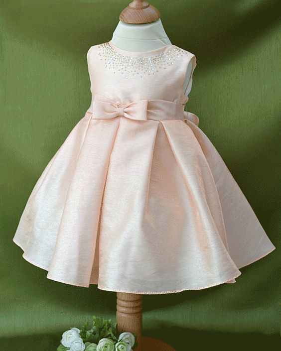 Baby Girl Special Occasion Dresses UK  girls peach shimmer ...