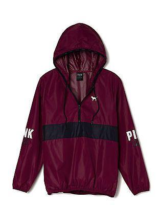 Victorias Secret PINK Anorak Pullover Hoodie Windbreaker Jacket
