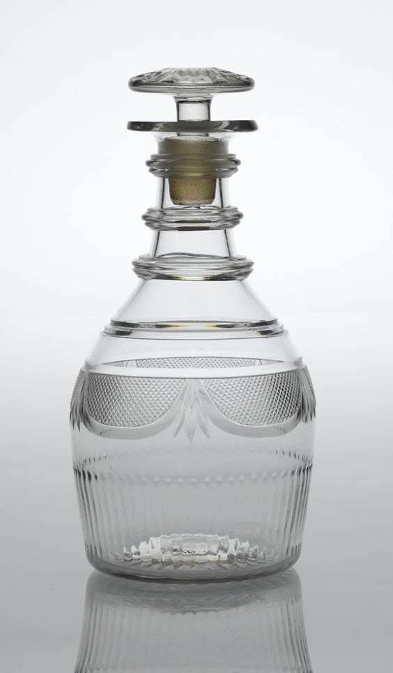 "A History of Ireland in 100 Objects – 75. Penrose glass decanter, late-eighteenth century - ""Initially, indeed, the glass industry continued to thrive in Waterford, Cork, Dublin, Belfast and Newry. But Westminster often proved indifferent if not hostile to Irish commercial interests."""