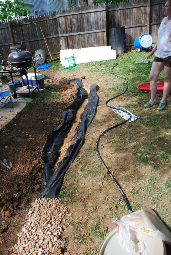 Installing A French Drain | Fransk