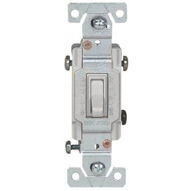 Cooper Wiring C1301-7LTW 1-Pole Lighted Toggle Switch White.  Best lighted switch on the market in my opinion.  I recommend this seller too.  Sellers on both eBay and Amazon send the wrong switch, usually the the Leviton Lighted Switch which only lights up around the base.