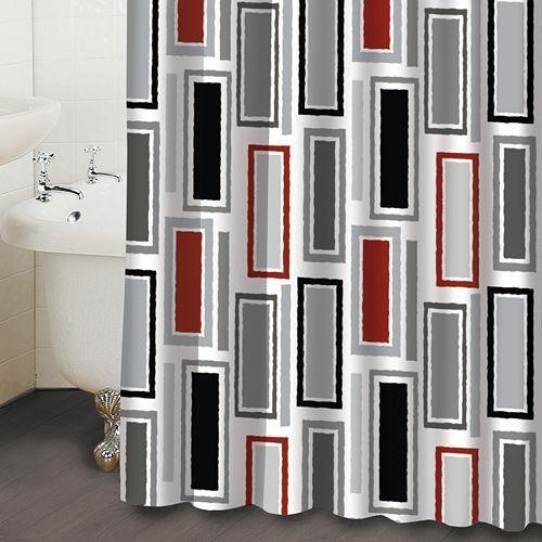 Black White Red Shower Curtain | Teacher Stuff | Pinterest | Red ...